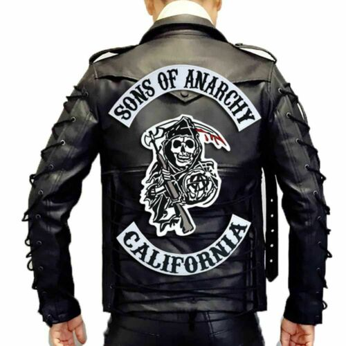 Original Son Of Anarchy Jacket Back Embroidered Biker Rider Patch Backing Ebay