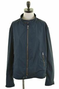 CERRUTI-1881-Womens-Bomber-Jacket-Size-20-2XL-Navy-Blue-Polyester-DD14