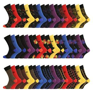 Mens 12 Pairs Super Soft Organic Bamboo Socks UK 7-11 EU 40-45 - ALL Designs