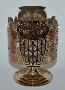 BATH-amp-BODY-WORKS-OWL-LEAVES-PEDESTAL-LARGE-3-WICK-CANDLE-HOLDER-SLEEVE-14-5-OZ
