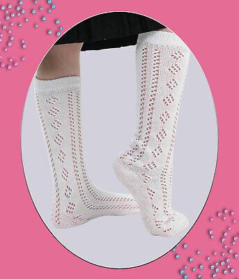 en 5 couleurs et en tailles UK adam /& eesa 1 paire de chaussettes hautes en coton pour b/éb/é et fille
