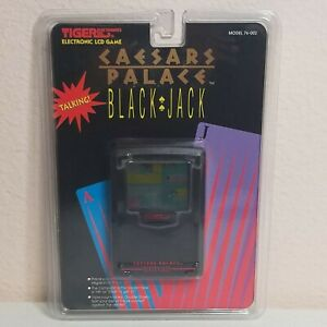 Vintage Caesars Palace Black Jack Electronic LCD Game Tiger 1994 76-002 New