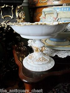 Meissen-pedestal-compote-with-old-Limoge-bowl-c1904-gorgeous-decor-in-gold-7