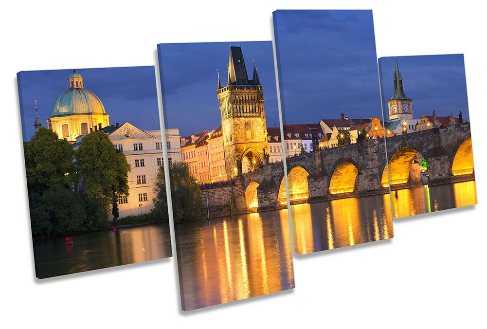Charles Bridge Prague Bild MULTI CANVAS Wand Kunst Drucken