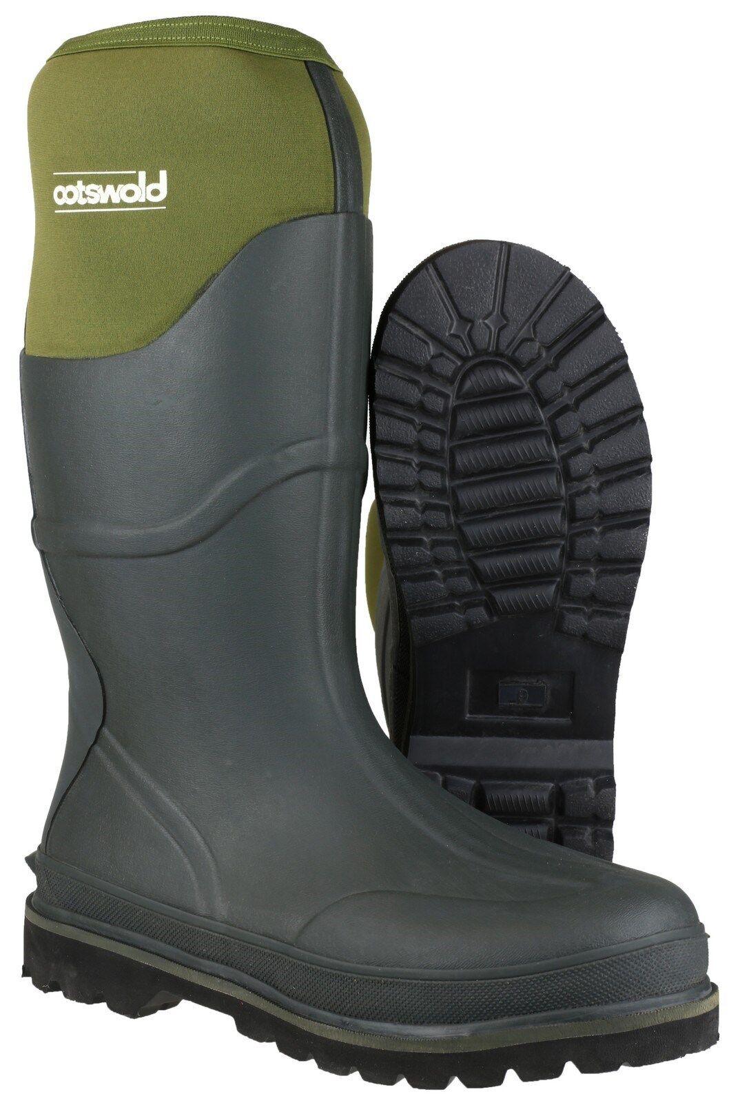 Cotswold Ranger Neoprene Boots Mens Green Waterproof Wellingtons Wellies UK6-14