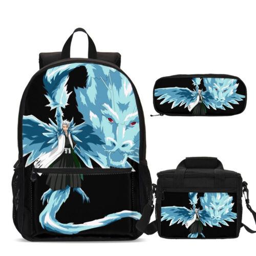 Bleach Anime Kids School Backpacks Insulated Lunch Box Shoulder Bag Pen Case Lot