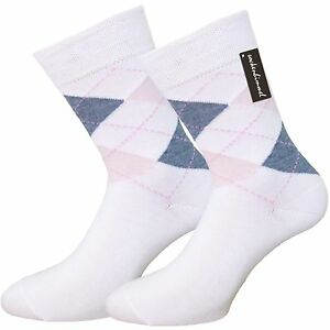 Damen-Baumwoll-Socken-mit-Karomuster-6er-Pack-85-Baumwolle-Venen-Socken