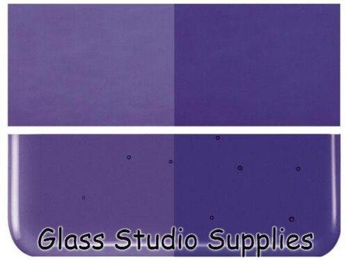 Bullseye Deep Violet Royal Four verre transparent FUSION 90coe 1128-30