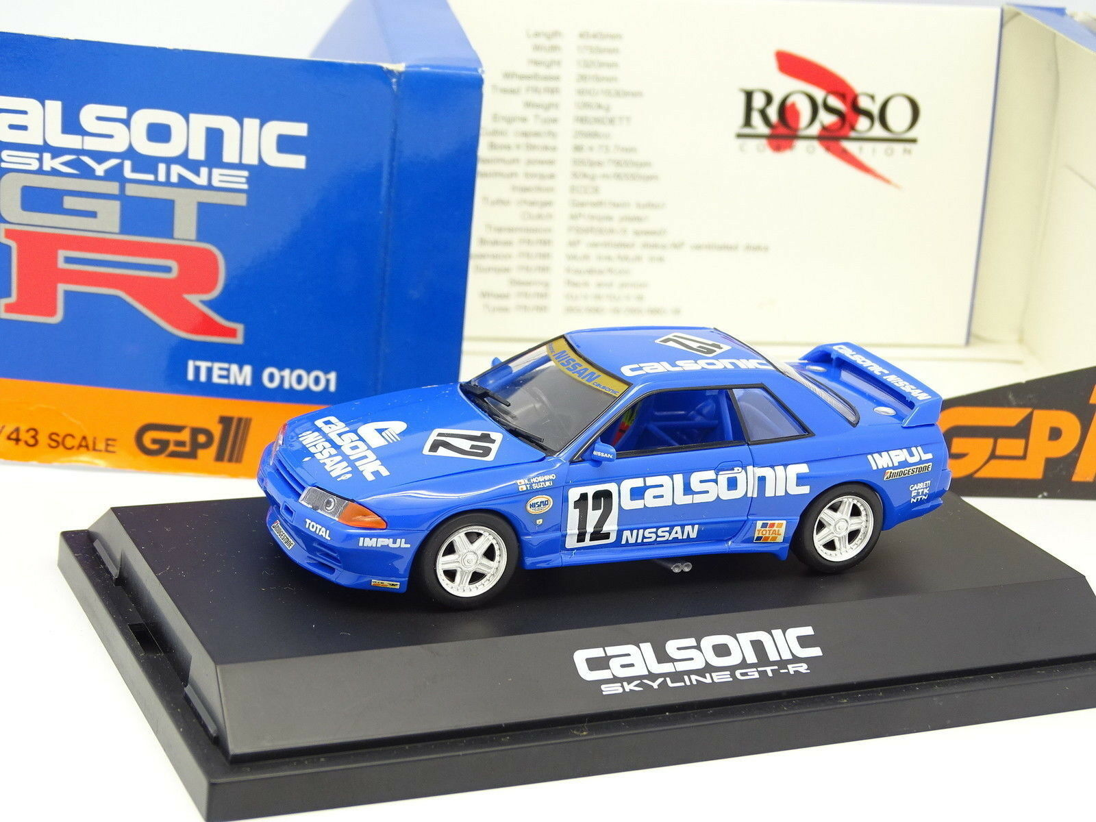 rouge 1 43 - Nissan Skyline GTR Calsonic Japan Championship 1991