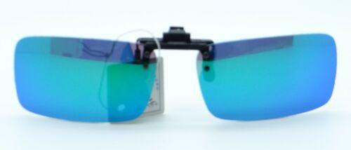 Premium Clip-On  Flip-Up UV Polarised Sunglasses Lenses 36 Hard Case No1