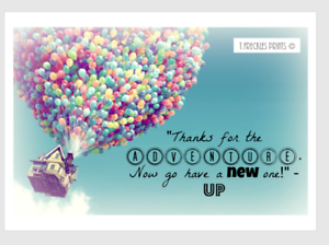 disney up house balloons quote a print thanks for the adventure