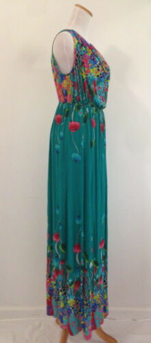 Maxi Sundress Full Length Floral Droopy Front Summer Beach Boho Evening S-XL