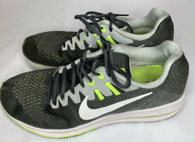 best sneakers 7aa4e 1cfb9 NIKE ZOOM STRUCTURE 20 VOLT / BLACK / WHITE MENS RUNNING SHOES SIZE US 10.5