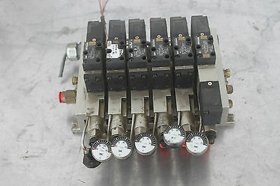 (6) Smc Narbf2000-p Valve Interface Regulator & (6) Nvfs2100f Valve Sol/pilot #4 Jaarlijkse Koopjesverkoop