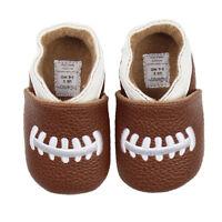 Baby Boy Football Brown Shoes Toddler Infant Pre-walker And Walker Size Slip-on