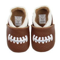 Baby Boy Football Brown Shoes Toddler Infant Pre-walker And Walker Size Slip-on