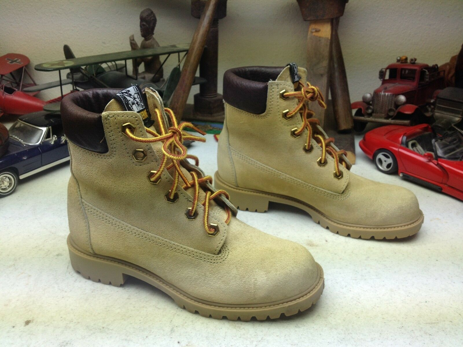 WOLVERINE VINTAGE USA USA USA AMBER LACE UP PACKER WORK CHORE FARM BOOTS 5-5.5 M 6d7d23