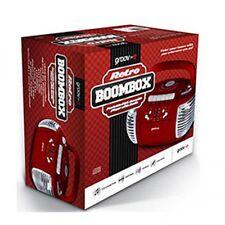 Groov-e GVPS813 Retro CD Player AM/FM Radio Cassette Boombox Aux Input LED - Red