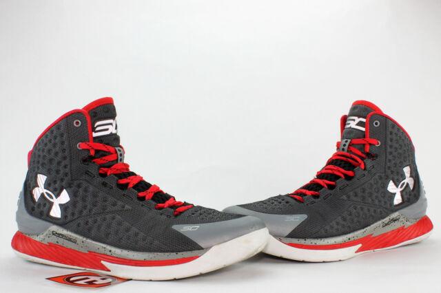 buy popular 01b0c 2ed2f Under Armour Steph Curry 1 Underdog Steel Grey Red Size 10.5 1258723 036