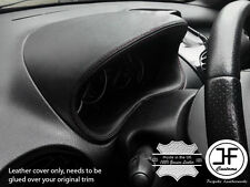 BLACK STITCH GAUGE SPEEDO HOOD LEATHER COVER FITS PEUGEOT 206 206 CC 1998-2012