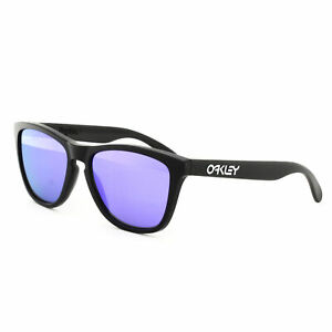 5f0bbcf1d Oakley Frogskins Sunglasses 24-298 Matte Black Frame Violet Iridium ...