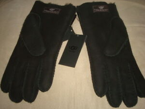 UGG-SHEEPSKIN-BLACK-GLOVES-SIZE-L