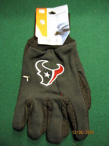HOUSTON-TEXANS-SPORTS-UTILITY-GLOVES-NEW-WITH-TAGS
