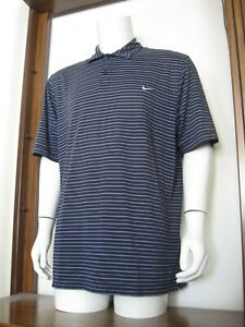 Xl Men Nike Performance Short Sleeve Polo Shirt Black White Stripe Polyester Euc Ebay
