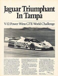 1989 Jaguar XJR-9 GTP IMSA Race Original Advertisement ...