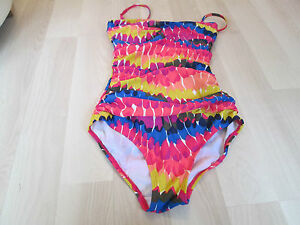 BODEN-2-MULTICOLOURED-SORRENTO-SWIMSUIT-SIZE-8-BNWOT