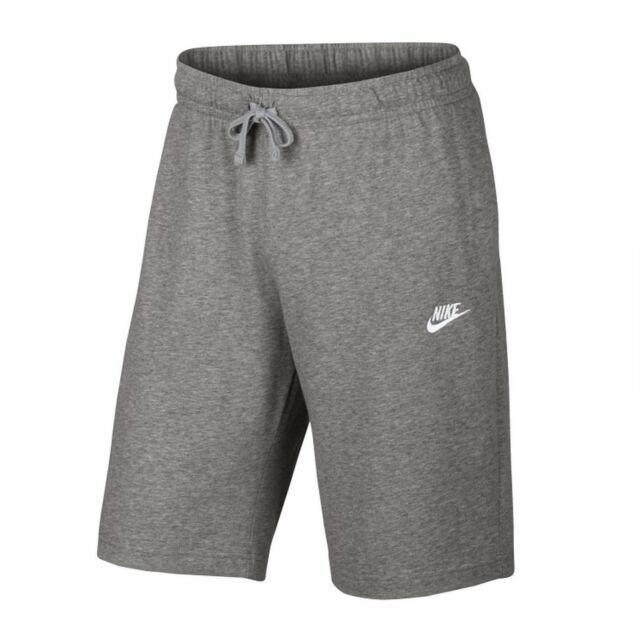 Nike Men's Cotton Shorts Club Training Shorts Grey
