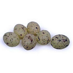 Mini-speckled-decorative-craft-BIRD-EGGS-Package-of-6-New