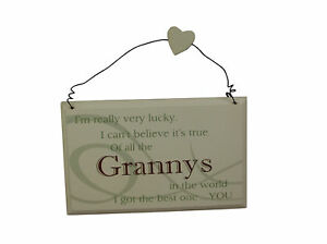 Lucky Granny S Wall Plaque Birthday Gift Ideas For Her