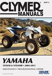clymer repair service shop manual yamaha yfz450 yfz450r 04 05 06 07 rh ebay com 09 YFZ450R Graphics 09 yfz450r owners manual