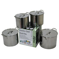STOCKPOT CASSEROLE POTS COOKING STAINLESS STEEL BOILING CATERING  VARIOUS SIZES