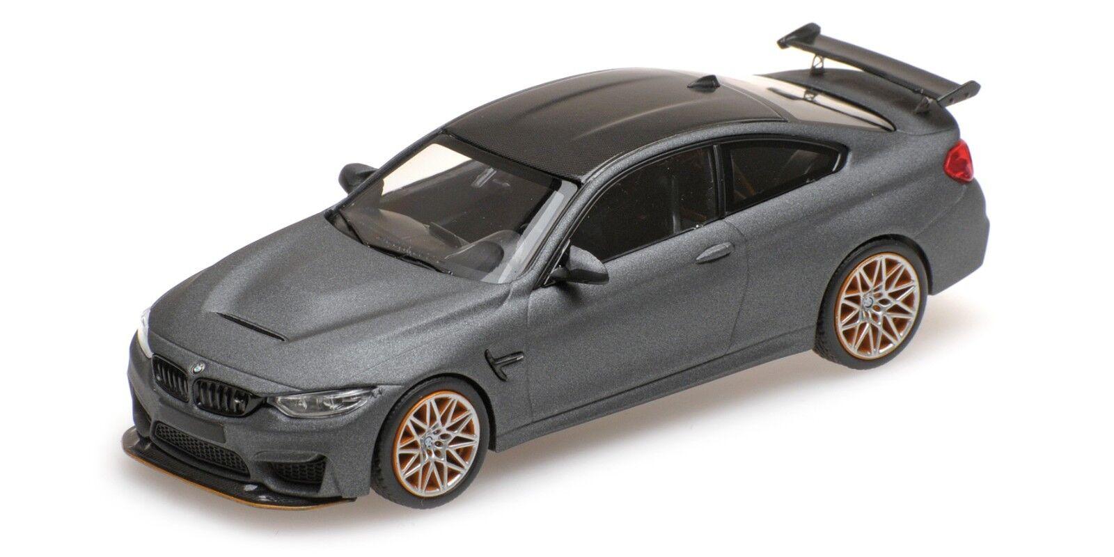 Minichamps 410025220 - BMW M4 GTS – 2016 – MATT gris W  naranja WHEELS 1 43