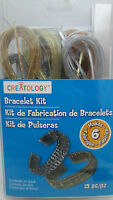 Creatology Makes 6 Plastic Lacing Bracelet Kit - Gold & Silver