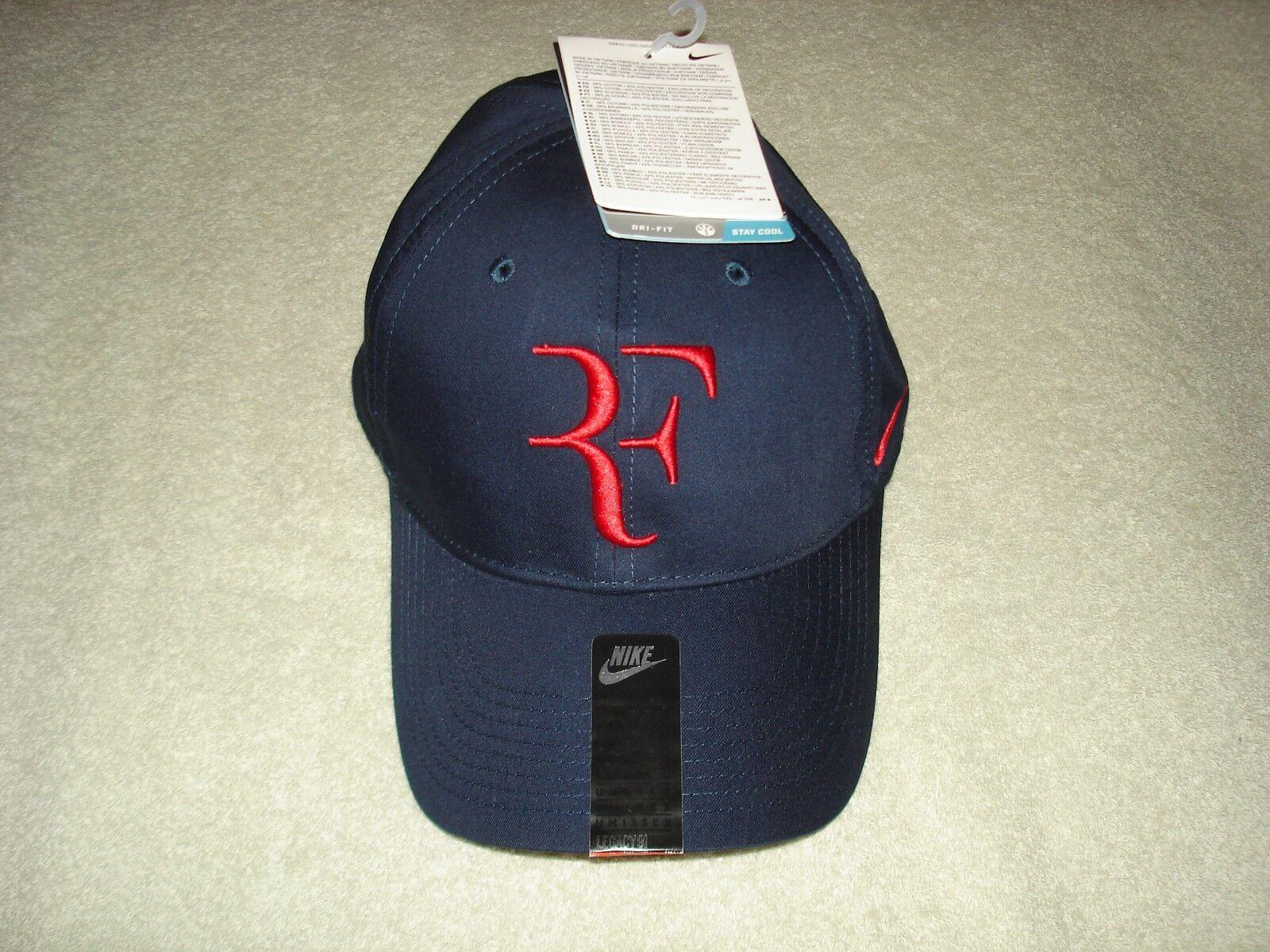 NWT Nike Federer RF Dri-FIT Tennis Obsidian Legacy 91 Hat Cap Obsidian Tennis 371202-451 Nadal 3c7a49