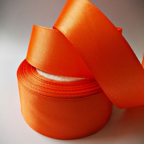 """SATIN RIBBON 1/""""//25MM WIDE 2M TO 100M LONG CRAFT GIFTS WRAPPING MANY COLOURS"""