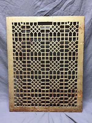 Antique 20x26 Cold Air Return Heat Grate Grill Honeycomb