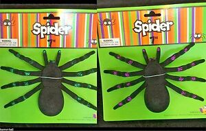 2pc-Realistic-Flocked-GIANT-TARANTULA-SPIDERS-Black-Widow-Gothic-Prop-Prank-Joke