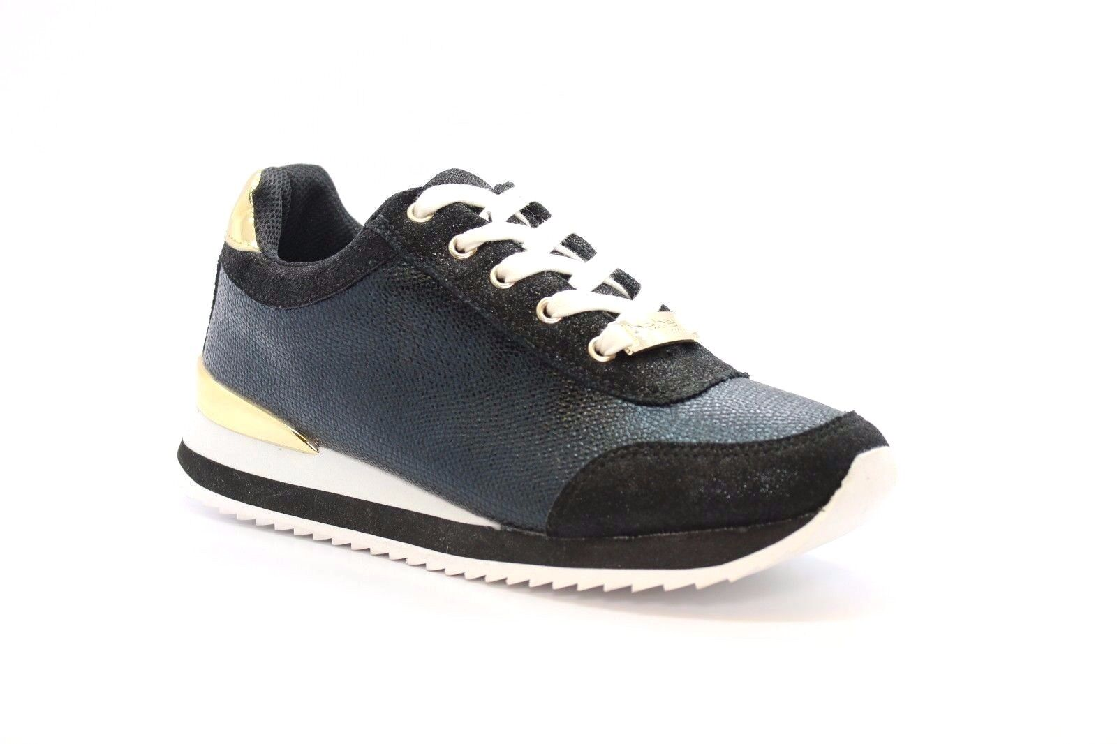 BEBE CORINEBLKFX CORINE Wmn's (M) Black Faux Synthetic Leather Lifestyle shoes