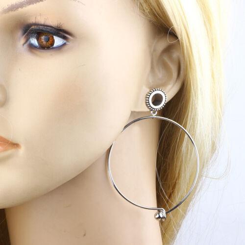 Pair Dangle Circle Green Tassel Screw Fit Flared Gear Dot Ear Plug Flesh Tunnel