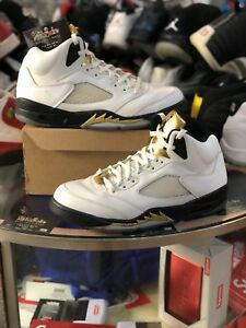 check out c8922 8faa2 Image is loading Nike-Air-Jordan-Retro-5-Gold-Coin-136027-