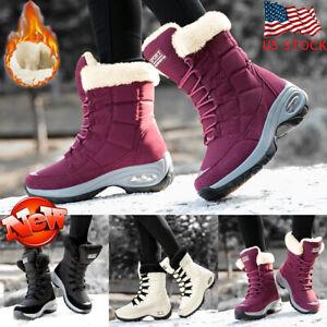 Women Ladies Winter Snow Boots Fur