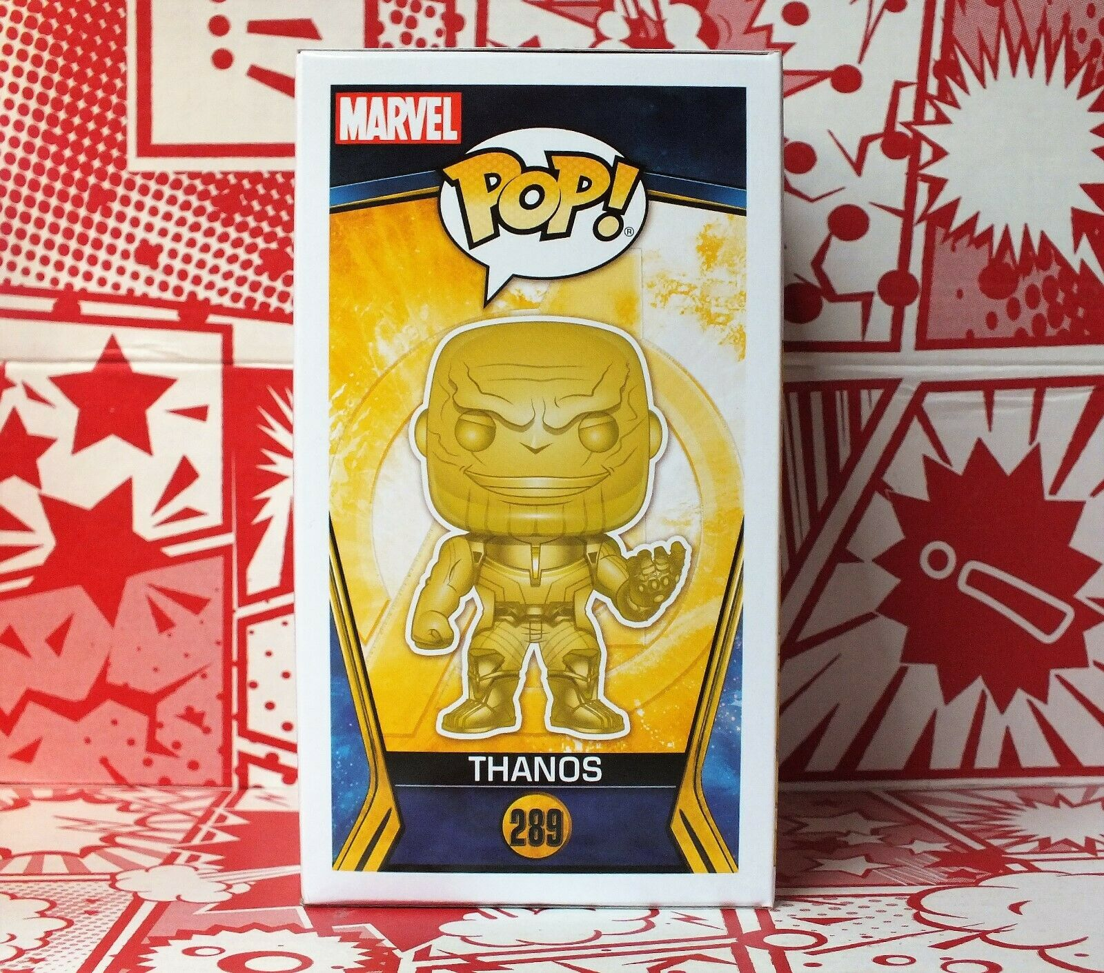 Funko POP Chrome gold Yellow Thanos Avengers Infinity Infinity Infinity War SPECIAL EDITION ec9593