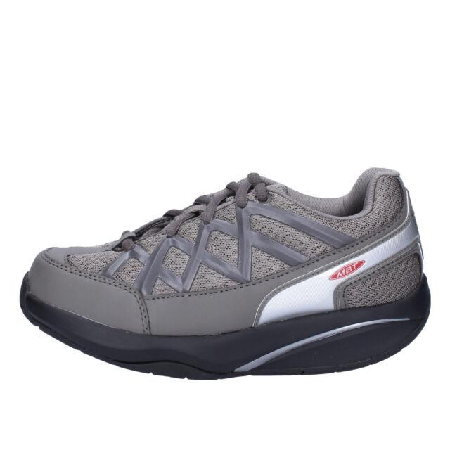 scarpe donna MBT 38 EU sneakers grigio tessuto dynamic AB390-F