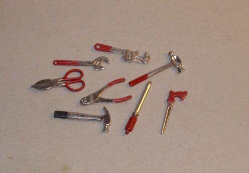 grosses 8-teiliges Set Werkzeug Puppenhaus Miniatur 1:12
