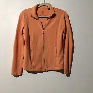 TOMMY-BAHAMA-Women-039-s-Light-Orange-Zip-Up-Sweat-Shirt-With-Pockets-Size-Small-P