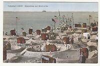 Ak Ostseebad Laboe Strandleben mit Blick zur See um 1915 !